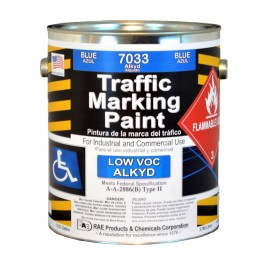 7033-01 -Handicap Blue Parking Zone ADA -RAE Traffic and Zone Marking Paint - Alkyd – Oil Based – Heavy Duty Solvent base - Rae Products and Chemicals Corp | RAE Paint