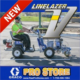 Graco LineLazer V 3900 HP Automatic - Airless Paint Line Striper 2-Automatic Guns - with Green Laser Guidance - 17H453