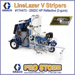 Graco LineLazer V 250DC - 17H473 - HP Automatic Series - Two Gun, Automatic - Pressurized Beads Installed 2-Tanks