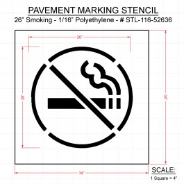 Rae No Smoking Symbol Parking Stencil Plug Text Symbols X