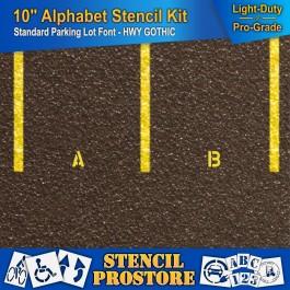 """Pavement Stencils 28 Piece - 10/"""" x 7.5/"""" 10 inch ALPHABET KIT STENCIL SET -"""
