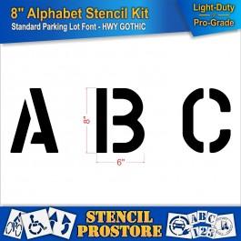 """Pavement Stencils - 8 inch ALPHABET KIT STENCIL SET - (28 Piece) - 8"""" x 6"""""""