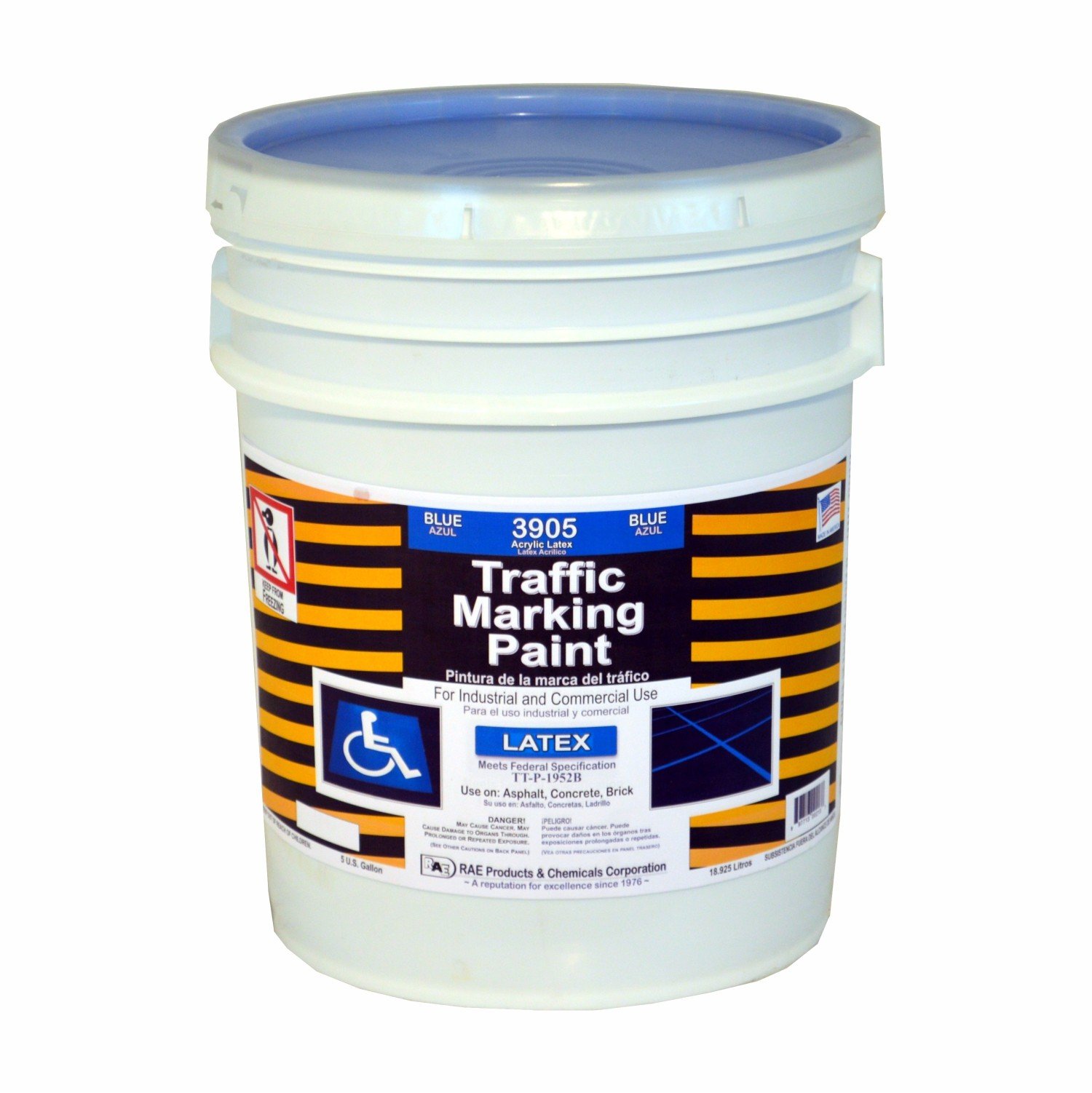 Rae Blue 5 Gallon Regular Dry Latex Water Based Marking Paint 3905 05 Traffic And Zone
