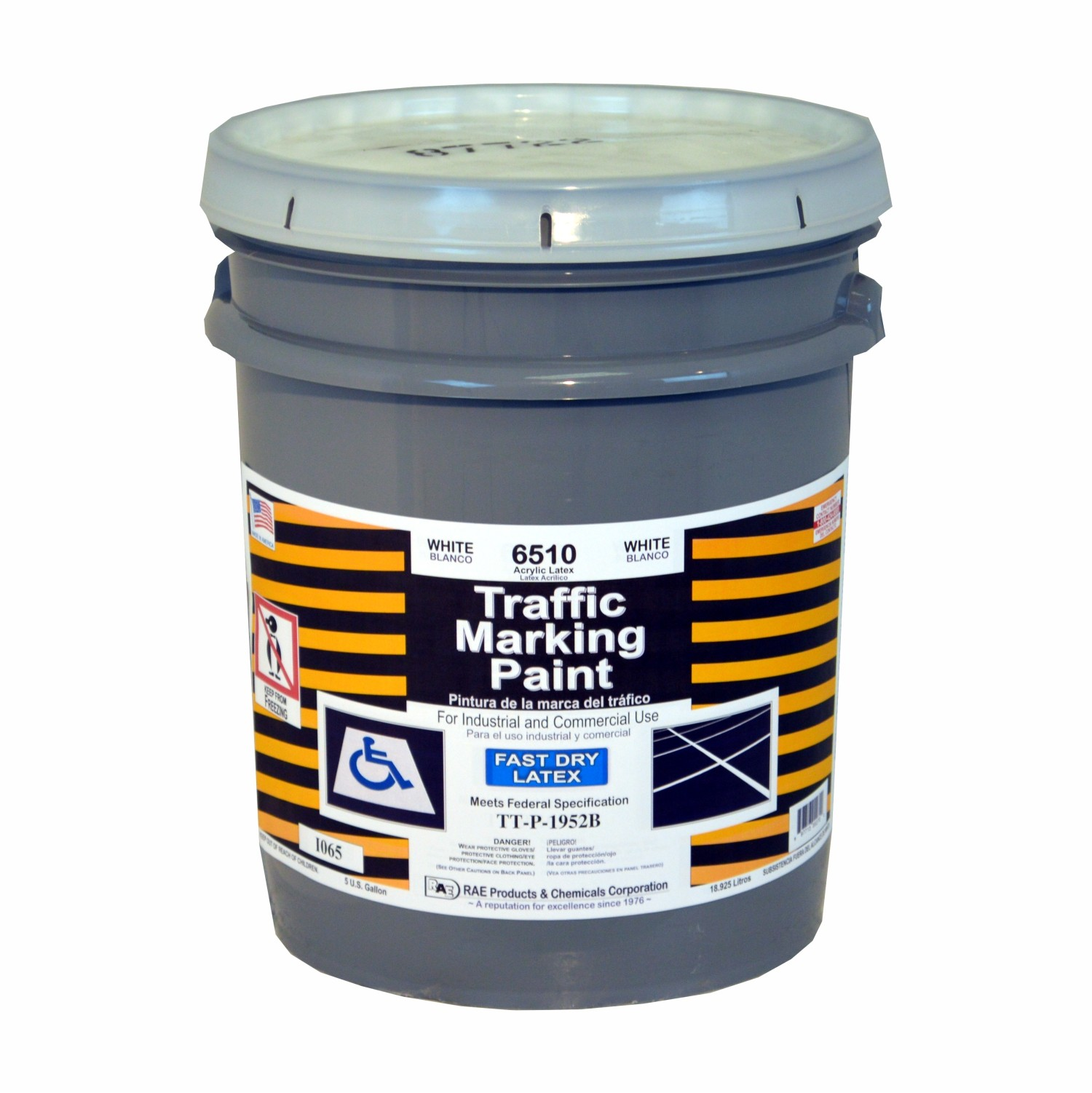 White Traffic Paint : Rae white gallon fast dry latex water based