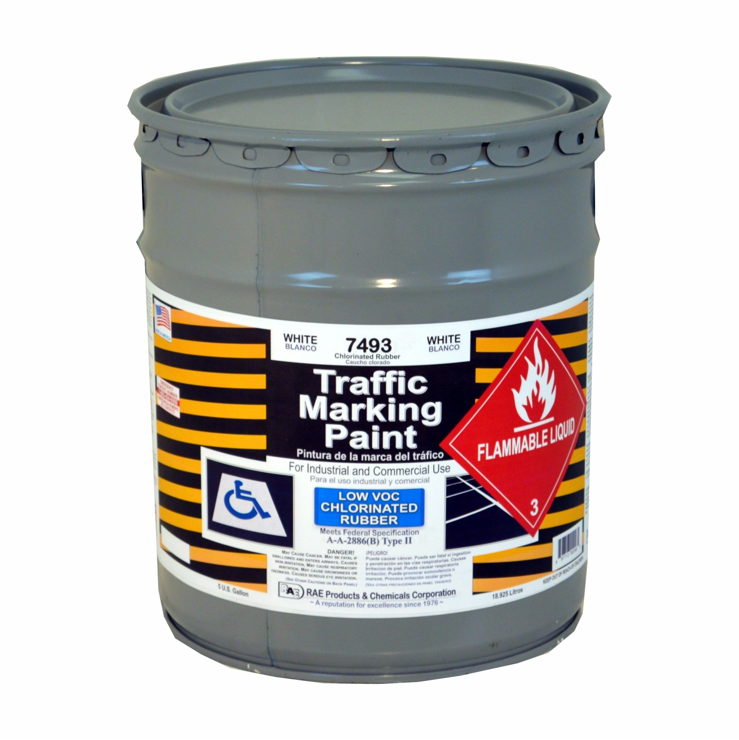 White Traffic Paint : Rae white gallon chlorinated rubber low voc