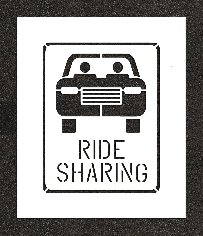 Rae Ride Sharing Parking Stencil Plug Text Symbols
