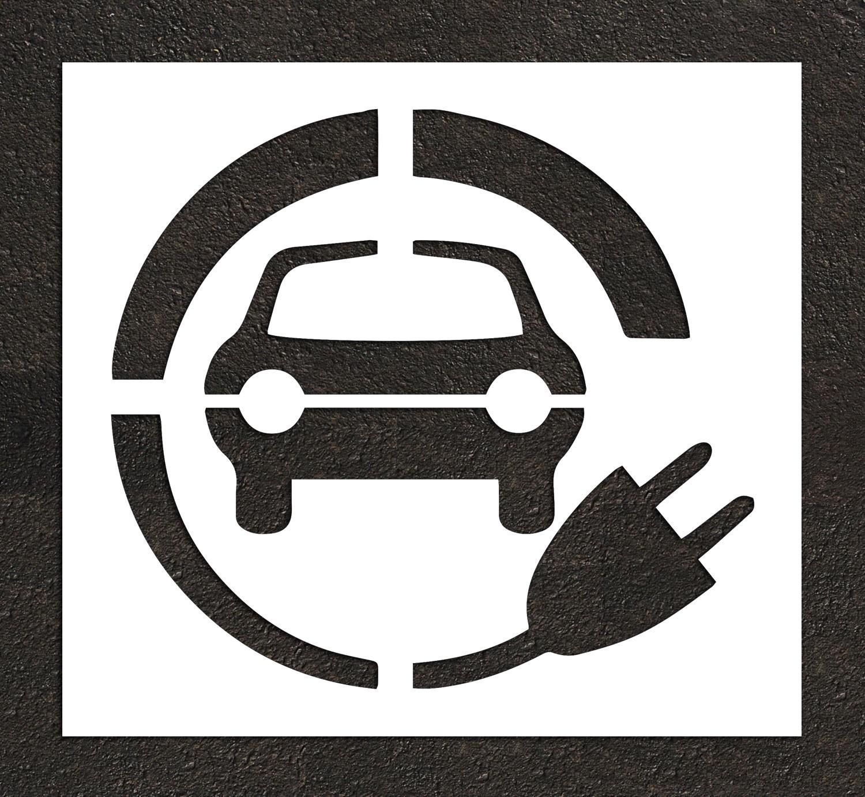 Rae Charging Station Electric Vehicle Stencil Plug