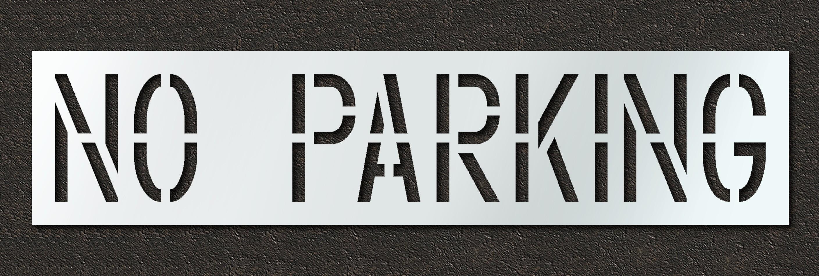 rae no parking wording stencil plug text symbols x 63mil 126mil thick reusable and. Black Bedroom Furniture Sets. Home Design Ideas
