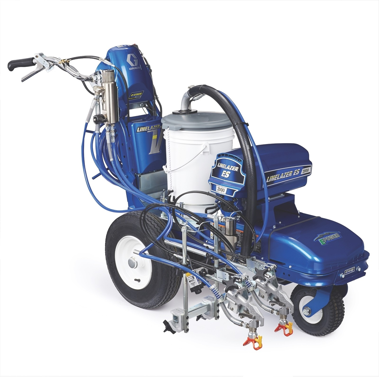 LineLazer V ES 2000 HP Automatic Series Electric Airless Line Striper, 1 Auto Gun, 1 Manual Gun, Two AGM Batteries - 25M551