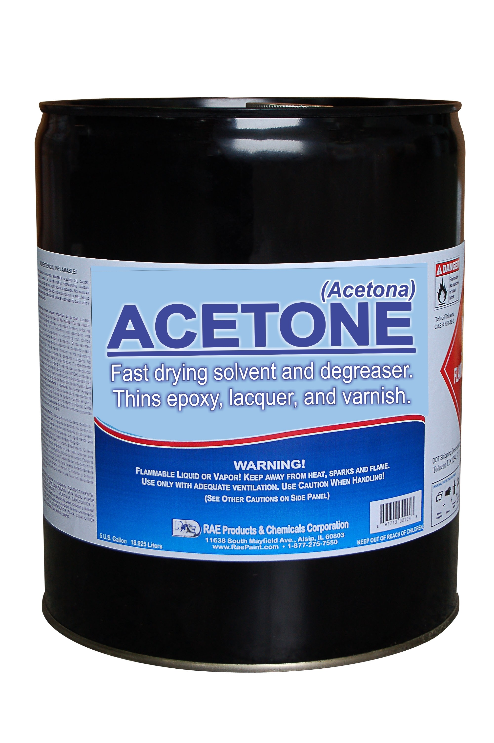 Acetone - S-3 - Fast drying solvent and degreaser  Thins
