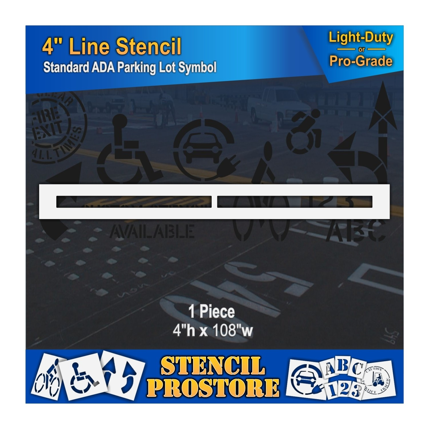 12 FT 3M Adhesive Depth Marker 9 Inch x 6 Inch with 4 Inch Lettering