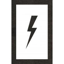 "12"" Lightening Bolt - Electric Car Parking Stencil"
