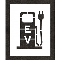 """24"""" Electric Vehicle Charging Station Plug Stencil"""