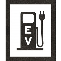 """24"""" Electric Vehicle Charging Station Pump solid Stencil"""