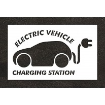 """36"""" Electric Car Charging Station Stencil"""