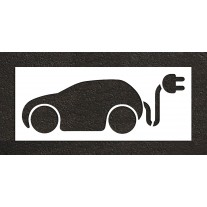 """36"""" Electric Car Charging Station no text Stencil"""