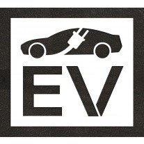 """36"""" Electric Vehicle Charging Station Electric Vehicle Car w/ Plug Stencil"""