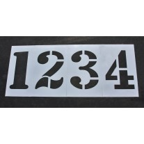 """Athletic Marking - 36 inch - TRACK and FIELD NUMBER Stencils - (8 Piece) - 36"""" x 24"""""""