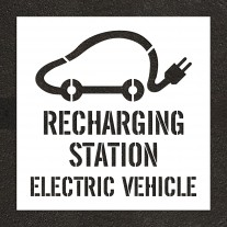 """48"""" Recharging Station, Electric Vehicle with Graphic Stencil"""