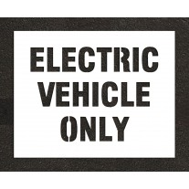 """6"""" ELECTRIC VEHICLE ONLY Stencil"""