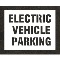 """8"""" ELECTRIC VEHICLE PARKING Stencil"""