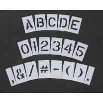 "Pavement Stencils - 8 inch MEGA ALPHA / NUMBER SET - (64 Piece) - 8"" x 6"""