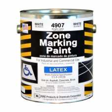 RAE White - 1 Gallon - Regular Dry Latex - Water Based Marking Paint - 4907-01 - Traffic and Zone Marking Paint - Rae Products and Chemicals Corp | RAE Paint