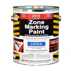 RAE Red - 1 Gallon - Regular Dry Latex - Water Based Marking Paint - 4909-01 - Traffic and Zone Marking Paint - Rae Products and Chemicals Corp | RAE Paint