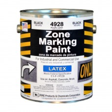 RAE Black - 1 Gallon - Regular Dry Latex - Water Based Marking Paint - 4928-01 - Traffic and Zone Marking Paint - Rae Products and Chemicals Corp | RAE Paint