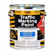 RAE Yellow - 1 Gallon - Alkyd - Low Voc - Solvent Based Marking Paint - 7300-01 - Traffic and Zone Marking Paint - Rae Products and Chemicals Corp | RAE Paint