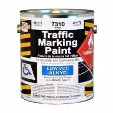 RAE White - 1 Gallon - Alkyd - Low Voc - Solvent Based Marking Paint - 7310-01 - Traffic and Zone Marking Paint - Rae Products and Chemicals Corp | RAE Paint