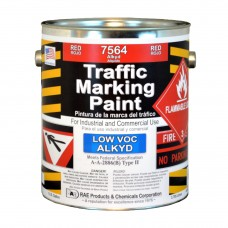 RAE Red - 1 Gallon - Alkyd - Low Voc - Solvent Based Marking Paint - 7564-01 - Traffic and Zone Marking Paint - Rae Products and Chemicals Corp | RAE Paint