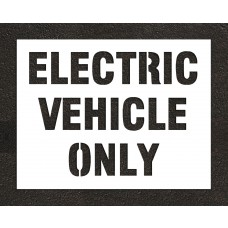 "10"" ELECTRIC VEHICLE ONLY Stencil"