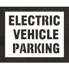 "10"" ELECTRIC VEHICLE PARKING Stencil"
