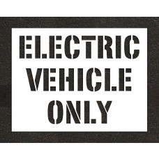 "12"" ELECTRIC VEHICLE ONLY Stencil"