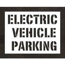 "12"" ELECTRIC VEHICLE PARKING Stencil"