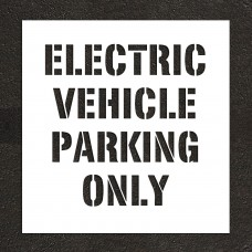 "12"" ELECTRIC VEHICLE PARKING ONLY Stencil"