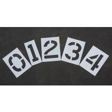 """Pavement Stencils - 12 inch NUMBER KIT STENCIL SET - (12 Piece) - 12"""" x 9"""""""