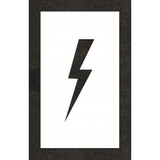 "12"" Lightening Bolt - Electric Car Parking Stencil"