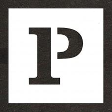 """12"""" Parking Letter """"P"""" Stencil"""