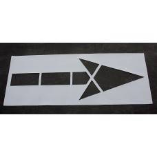 "Pavement Stencils - 120 inch - STRAIGHT ARROW Stencil for MUTCD, FHWA, Road & HWY DOT - (2 Piece) - 120"" x 42"""