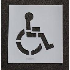 """Pavement Stencils -  15 inch - Handicap ADA Stencil - 15"""" x 14"""""""