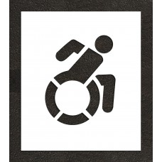 "15"" NY Accessible ADA Parking Stencil"