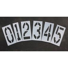 """Pavement Stencils - 18 inch NUMBER KIT STENCIL SET - (12 Piece) - 18"""" x 9"""""""