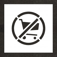 "18"" No shopping Carts Symbol Stencil"