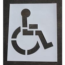 """Pavement Stencils -  21 inch - HANDICAP - ADA Stencil - 21"""" x 19"""""""