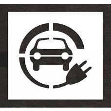 "24"" Electric Vehicle CS Car w/ Plug Stencil"