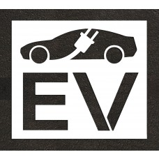 "24"" Electric Vehicle Charging Station Electric Vehicle Car w/ Plug Stencil"