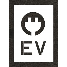 "24"" Electric Vehicle Charging Station Electric Vehicle with Plug Stencil"