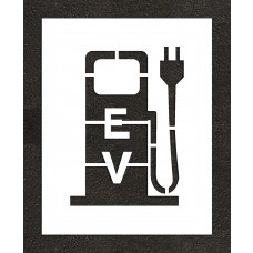 "24"" Electric Vehicle Charging Station Plug Stencil"